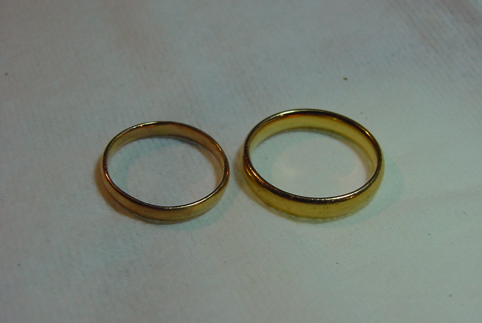 Charles Hyde Aston 22k wedding rings Birmingham  England